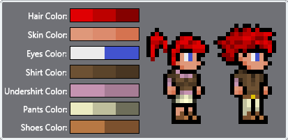 Terraria Player Sprite Player Sprites With a Slimmer