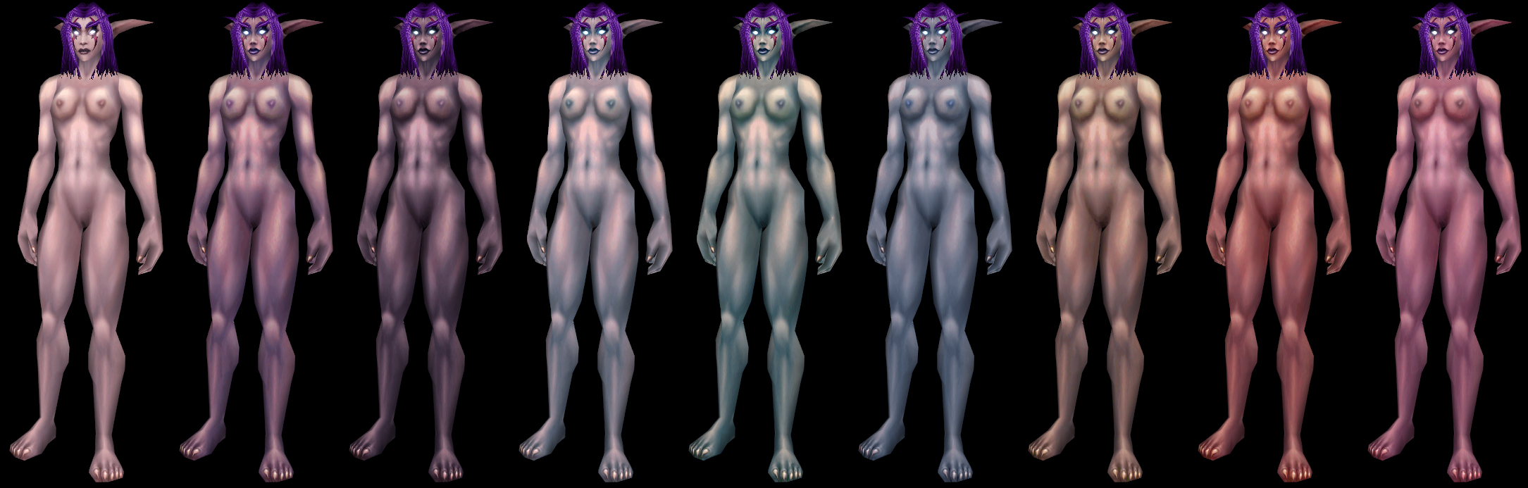 Night elf female naked nackt image