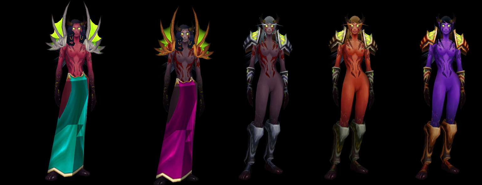 Re: Zilem's WOW Nude Mods Remade Fel-elf Female Nude skins. so there is more ...
