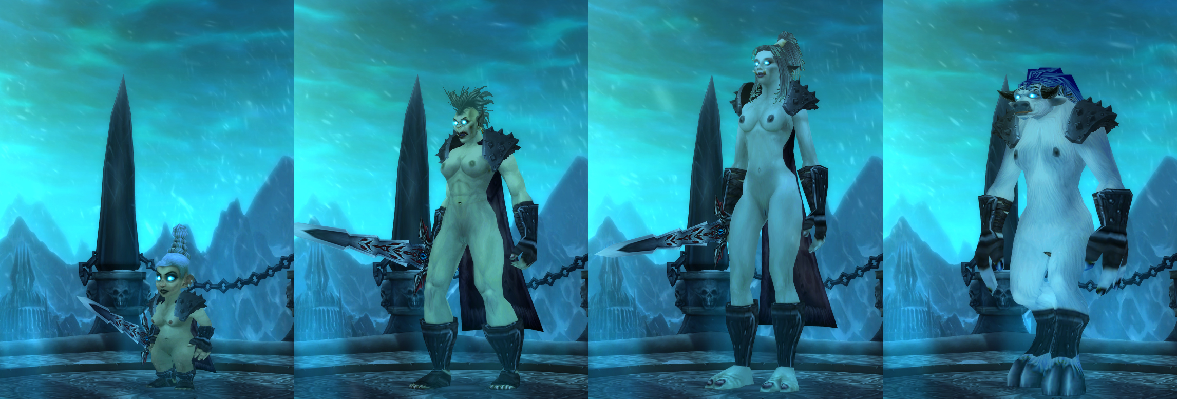 Wow in game characters naked mod naked photo